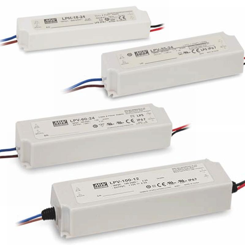 12V DC Netzteile MeanWell LPV-Serie IP67 18 100W LED Netzteil für Module